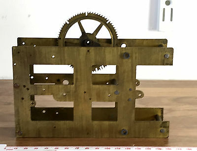 Vintage Brass Frame and Single Cog for Clock Movement - Part Only for Spares
