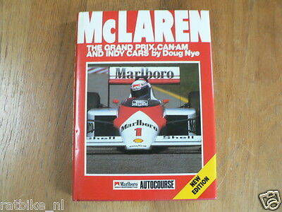 McLaren. The Grand Prix, Can-Am and Indy Cars. Doug Nye. autocourse alain prost