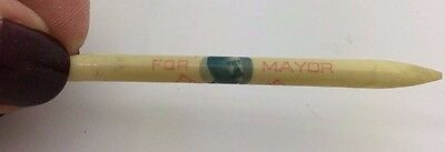 """Vintage Election Campaign Toothpick """"My Pick for Mayor""""  Fred E. Lewis"""