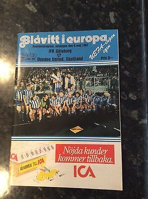 Uefa Cup Final 1987 Ifk Goteborg V Dundee United Played Abroad