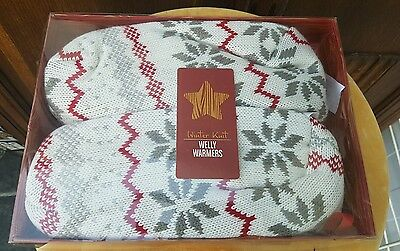 Winter Knit Microwave Lavender Welly Warmers New