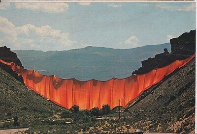 CU24. 03 Different Christo Postcards of Valley Curtain Wrap Project.