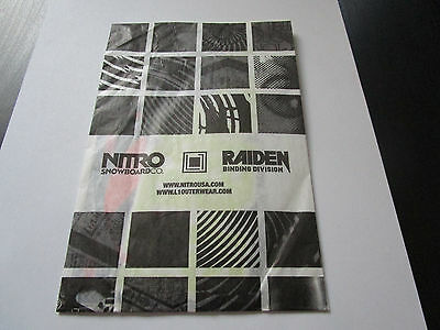 Assorted Collection of Nitro, Flow, Outerwear & Raiden Snowboarding Stickers