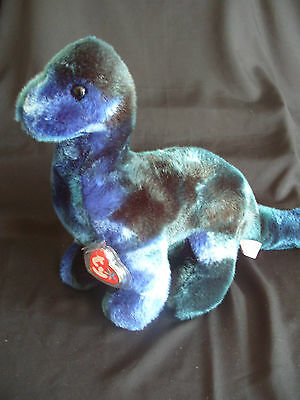 Ty Beanie Buddy Bronty The Dinosaur - Retired With Tag