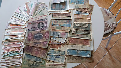 230 pcs Banknote LOT all over the world (G-UNC)