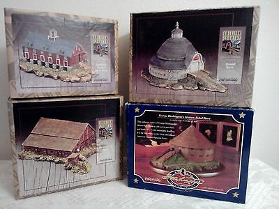 Ertl Collectibles American Country Cold Cast Porcelain Barns Set of 4 All NIB