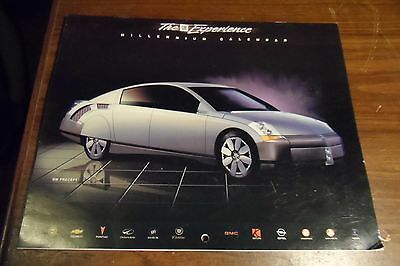 GM Experience 2000 Calendar with Concept Vehicles & Racers + More