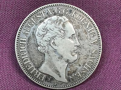 T2: World Coin German State of Saxony Albertine 1854 Thaler