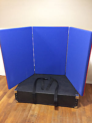 Red/Blue Velcro 3 Panel Trifold Tabletop Display Exhibition Board 22X32 Panels
