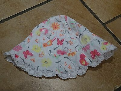 F&F sun hat to fit 6-12 month old baby girl