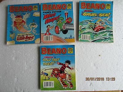COMIC LIBRARY x 6-BEANO AND  WHIZZER & CHIPS-1980/90S