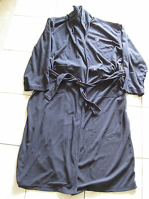 Mens Navy Blue Belted Wrap Around Dressing/ Gown Robe Size L
