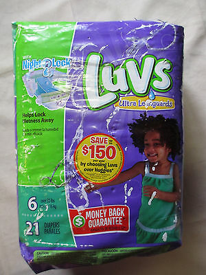 Luvs Ultra Leakguards with Night Lock, Diapers Lock Away Wetness Size 6 21 Count
