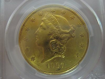 1907-S $20 GOLD Double Eagle PCGS - AU58  NICE COIN!