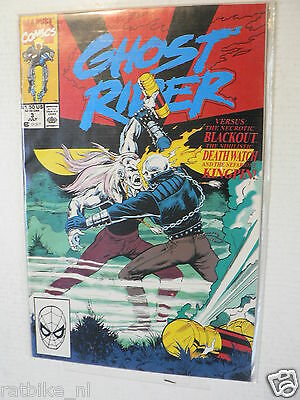 Usa Comic Ghost Rider Versus Blackout Kingpin 1990 ? No 3 Marvel Comics