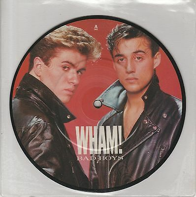 "George Michael / Wham! - Bad Boys Uk 7"" Picture Disc Vinyl Original 1983"