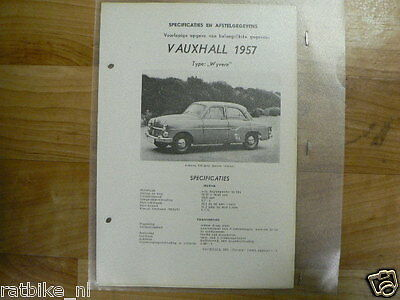 Va9-Vauxhall Type Wyvern 1957 -Technical Info Saloon Sedan