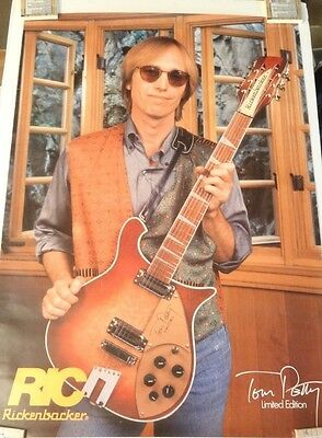 TOM PETTY Rickenbacker Limited Edition Poster - Printed in England (23 x 33)