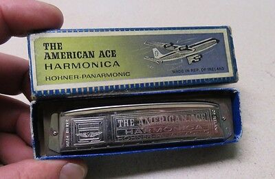 Vintage Hohner American Ace Harmonica Original Bow w/Instructions