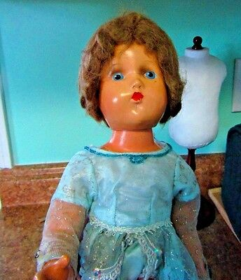vintage composition doll 18 in.