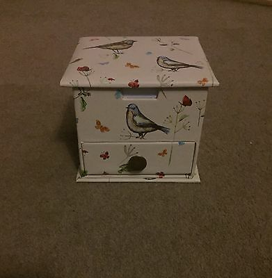 Bird Print Memo Box/ Organiser- New