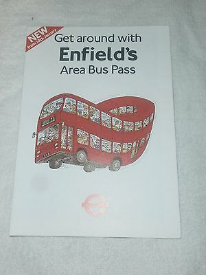 London Transport Enfield Area Bus Pass Map/leaflet 1987