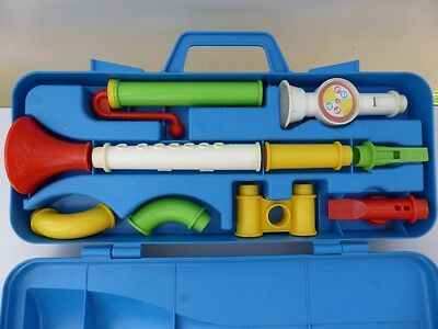 Collectible Vintage Fisher Price Crazy Combo Horn Set Made in USA 1984