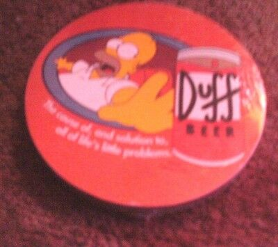 The Simpsons Set Of 4 Coasters Duff Beer     New Still Sealed