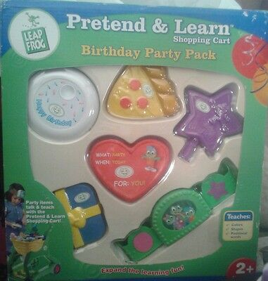 Leap Frog Pretend and Learn Shopping Cart BIRTHDAY PARTY PACK Rare! New!