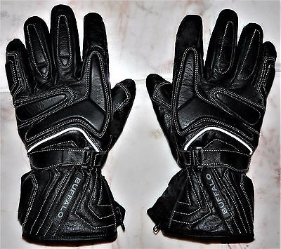 Mens Leather Motorcycle Winter Gloves 'xl' / 11(Uk) 'buffalo' Thermal & Armoured