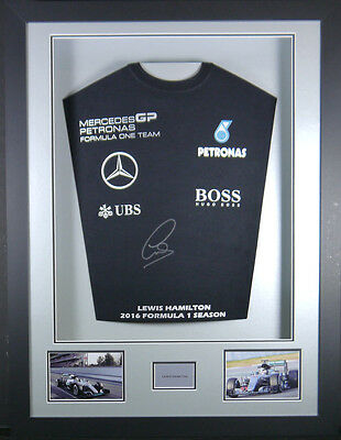 Lewis Hamilton Formula 1 Signed Shirt 3d Framed Display +COA