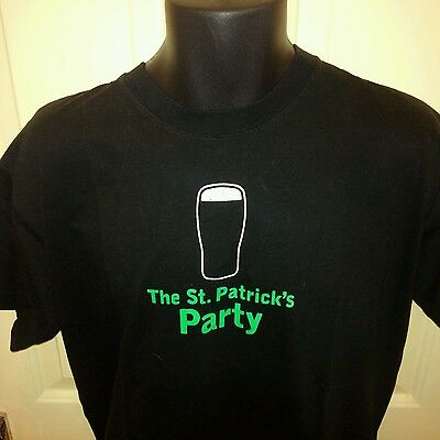 Guinness St. Patrick's Day Party Black T-Shirt