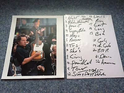 Bruce Springsteen Photo And Set List