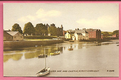 River Dee and Castle, Kirkcudbright, Scotland postcard. Valentine's.