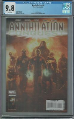 Cgc 9.8 Annihilation Conquest #6 White Pages 1St App Modern Guardians Of Galaxy