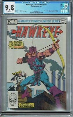 Cgc 9.8 Hawkeye Limited Series #1 White Pages 1St Solo Series Mockingbird Appear