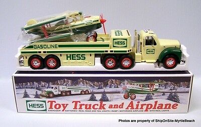 Hess 2002 Toy Truck and Airplane New in Box with bags ~ lot of 2