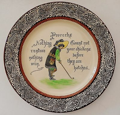 a very rare Golf Proverbs plate by Royal Doulton ,series ware in Mint condition