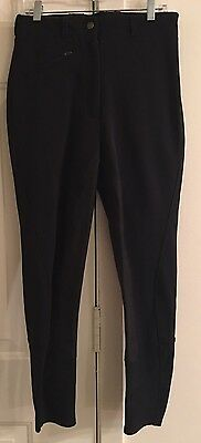 Ariat WORLD CUP  Riding Breeches Womens 26R Black  NICE! ��