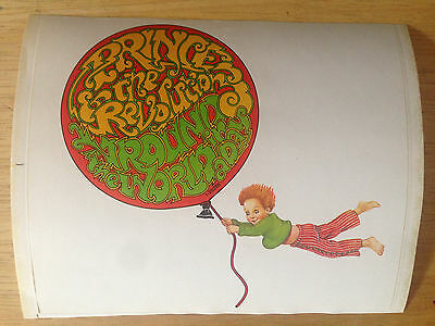 NOS Prince & the Revolution Around the World in a Day Promo Sticker Decal RARE!!