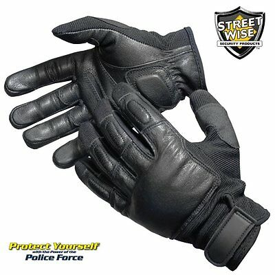StreetWise Police Force Tactical SAP Gloves Steel Shot Knuckle Area Self Defense