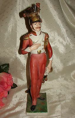 Tall Napoleonic Gendarme Soldier Porcelain Figurine Italy  PV 55273