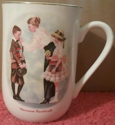 Norman Rockwell Mug - First Day Of School - Museum Collection 1996