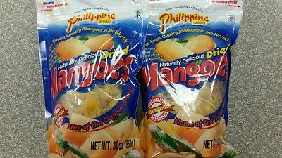 2 x 30 oz bags Philippine Dried Mangoes Naturally Delicious fruit snack mango