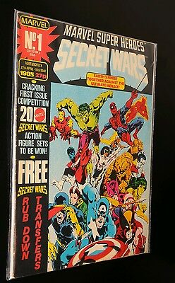 SECRET WARS Comic - No 1 - Date 27/04/1985 - Marvel comic BAGGED and boarded