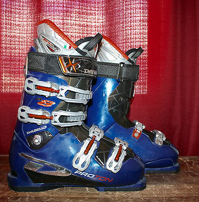 Dalbello Proton P8 Ski Boots Men's Size 8.5 Mondo 26.5 Blue Very Nice! 308mm