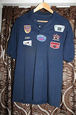 SHORT SLEEVE BOWLING SHIRT WITH PATCHES name Eddie Embroidered