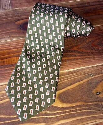 Burberry London 100% Silk Green Multi Color Neck Tie Made In Italy
