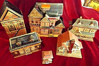 Vintage Rice Paper Christmas Town / Boxes