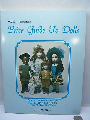 Vtg Wallace Homestead 1975 Price Guide to Dolls Miller PB Reference Book Photos